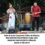 20140728 Gala cultural Valle Son ValV Encuentro  Peloteros CUBA USA Rancho San Vicente VIÑALES(4)