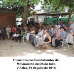 Encuentro con Combatientes del Movimiento del 26 de Julio Viñales(2)