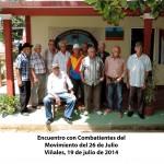 Encuentro con Combatientes del Movimiento del 26 de Julio Viñales(3)