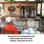 Encuentro con Combatientes del Movimiento del 26 de Julio Viñales(4)
